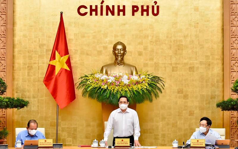 Thủ tướng Phạm Minh Chính phát biểu khai mạc phiên họp Chính phủ thường kỳ tháng 4/2021