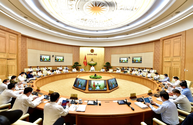 Chính phủ họp phiên thường kỳ tháng 4/2021.