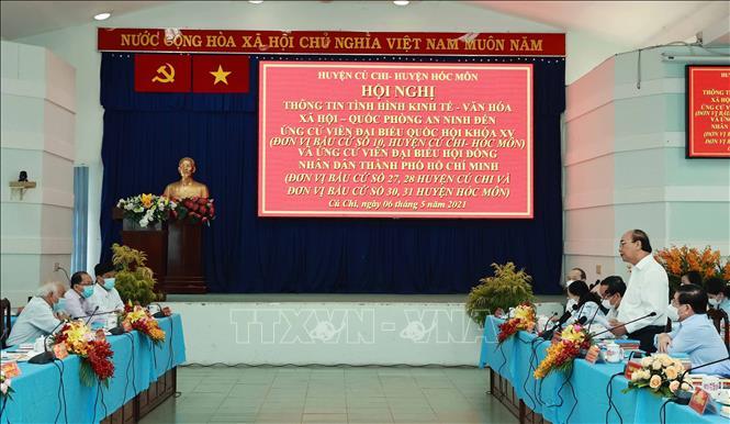 Chủ tịch nước Nguyễn Xuân Phúc, Chủ tịch Hội đồng Quốc phòng - An ninh phát biều. Ảnh: Thống Nhất /TTXVN