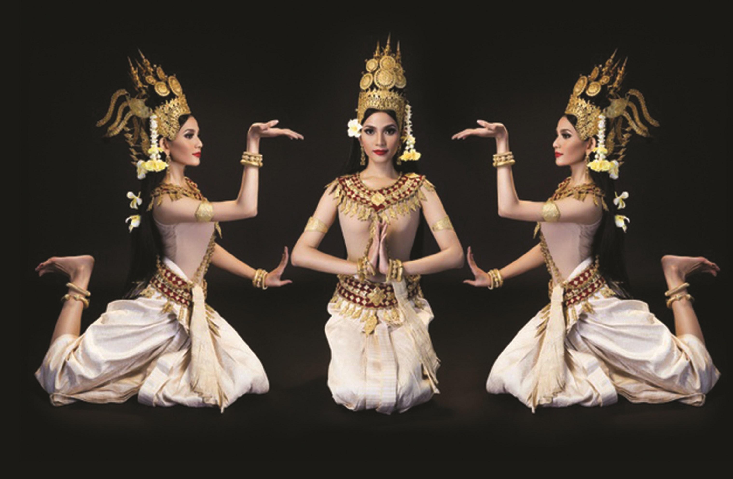 Thiếu nữ Khmer với điệu múa truyền thống.