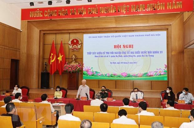Tổng Bí thư Nguyễn Phú Trọng, Bí thư Quân ủy Trung ương trình bày Chương trình hành động. (Ảnh: Trí Dũng/TTXVN)
