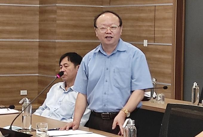"""Đồng chí Giàng A Chu, Phó Chủ tịch Hội đồng dân tộc của Quốc hội phát biểu về vấn đề """"bảo đảm tỷ lệ người dân tộc thiểu số trong Quốc hội"""", tại Hội nghị cung cấp thông tin cho báo chí về công tác nhân quyền và thông tin đối ngoại, tháng 4/2021. (Ảnh: Hoàng Thành)."""