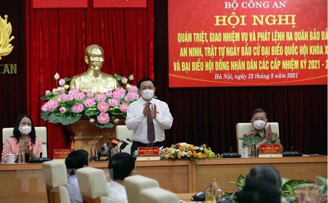 Chủ tịch Quốc hội Vương Đình Huệ tại hội nghị. Ảnh: Phạm Kiên/TTXVN