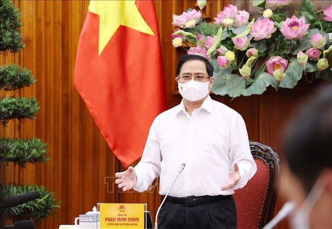 Thủ tướng Phạm Minh Chính phát biểu kết luận cuộc họp Thường trực Chính phủ chiều 17/5. Ảnh: Dương Giang/TTXVN