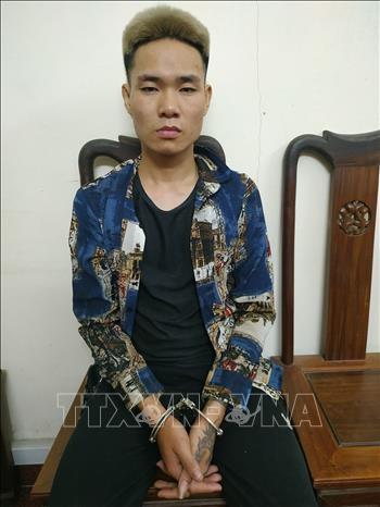 Đối tượng Hoàng Văn Luân, trú tại thôn Nà Lầu, xã Thượng Lâm, huyện Lâm Bình bị bắt giữ trong vụ án. Ảnh: TTXVN