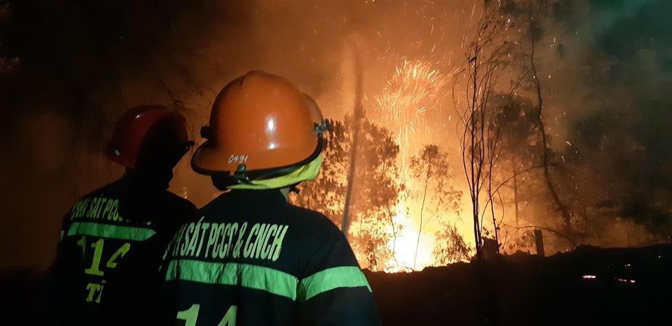 Nỗ lực cứu rừng trong đêm tại Hà Tĩnh
