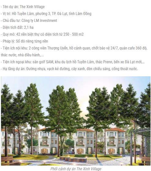 """Dự án """"ma"""" The Xinh Village được giới thiệu, rao bán trên mạng xã hội"""