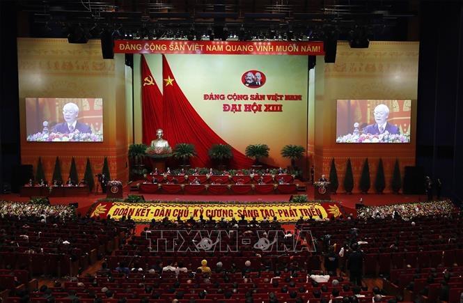 Quang cảnh bế mạc Đại hội XIII của Đảng. Ảnh: TTXVN