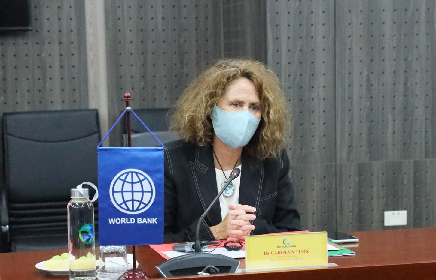 Bà Carolyn Turk, Giám đốc Quốc gia WB tại Việt Nam phát biểu tại buổi làm việc