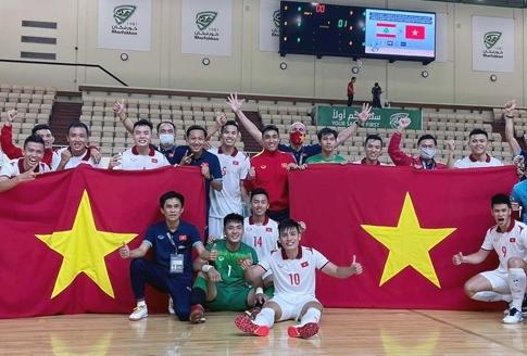 Tuyển futsal Việt Nam giành thành tích xuất sắc về cho bóng đá Việt Nam. Ảnh: VFF