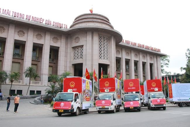 Hà Nội tổ chức diễu hành tuyên truyền Ngày bầu cử. Ảnh minh họa
