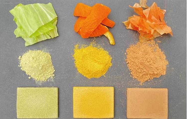 Rác thải thực phẩm được biến thành vật liệu xây dựng. Ảnh: Daily Mail