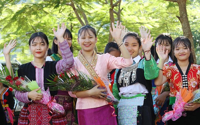 Học sinh Trường THPT Nội trú tỉnh Sơn La (Ảnh: BND)