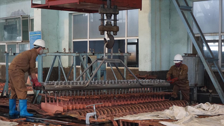 Sản xuất tại Nhà máy luyện đồng Lào Cai trong những tháng đầu năm 2021 đều đạt và vượt chỉ tiêu kế hoạch