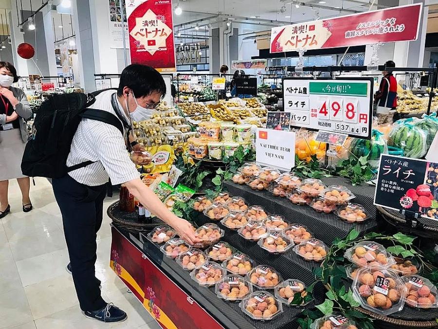 """50 tấn vải đầu tiên của Việt Nam """"cháy hàng"""" tại Nhật Bản, khẳng định thương hiệu nông sản Việt Nam. Ảnh: Tư liệu"""