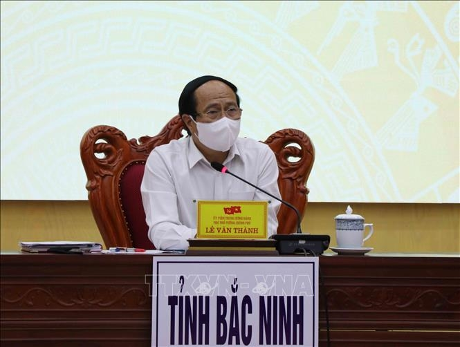 Phó Thủ tướng Chính phủ Lê Văn Thành phát biểu tại buổi làm việc.