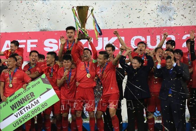 Đội tuyển Việt Nam đang là đương kim vô địch AFF Suzuki Cup. Ảnh: TTXVN