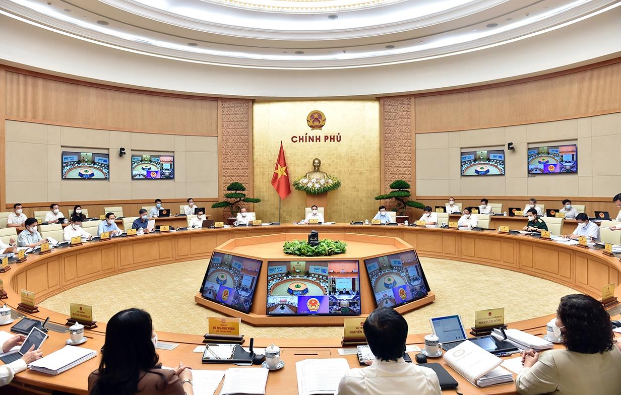 Quang cảnh Phiên họp Chính phủ thường kỳ tháng 5.