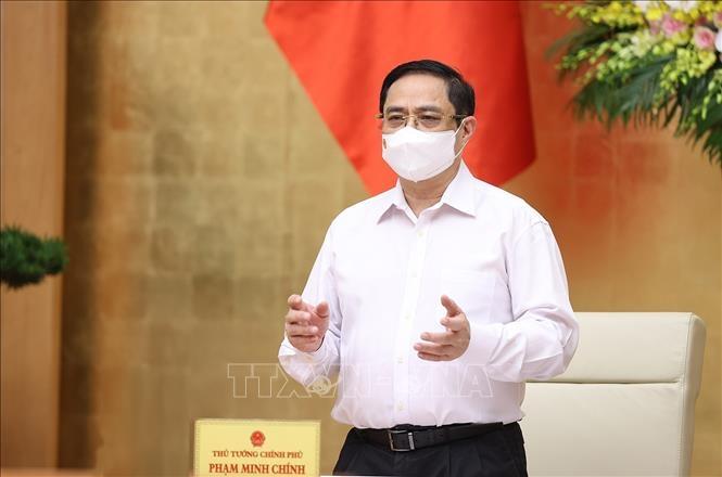 Thủ tướng Phạm Minh Chính chủ trì phiên họp. Ảnh: Dương Giang/TTXVN