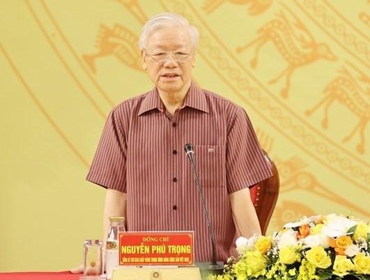 Tổng Bí thư Nguyễn Phú Trọng phát biểu tại buổi lễ.