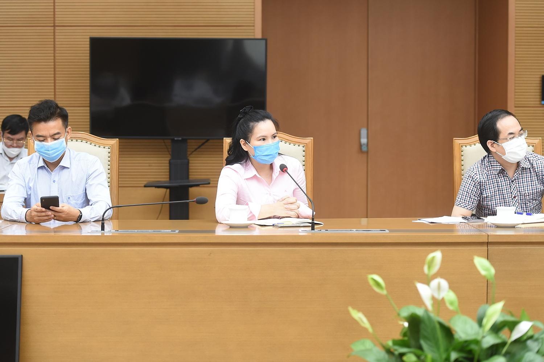 Đại diện Hiệp hội Da giày phát biểu tại cuộc họp. Ảnh: VGP/Đình Nam