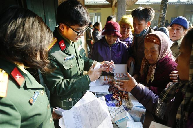do Bộ Chỉ huy quân sự tỉnh Tuyên Quang phối hợp với Hội Chữ thập đỏ tỉnh cùng các nhà hảo tâm tổ chức (2019). Ảnh minh họa: Nam Sương/TTXVN