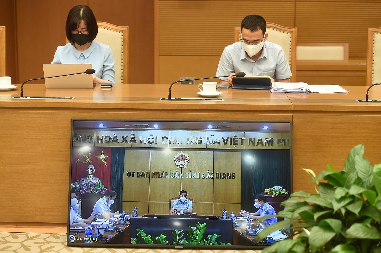 Nhiều tín hiệu lạc quan từ tâm dịch Bắc Giang. Ảnh: VGP/Đình Nam