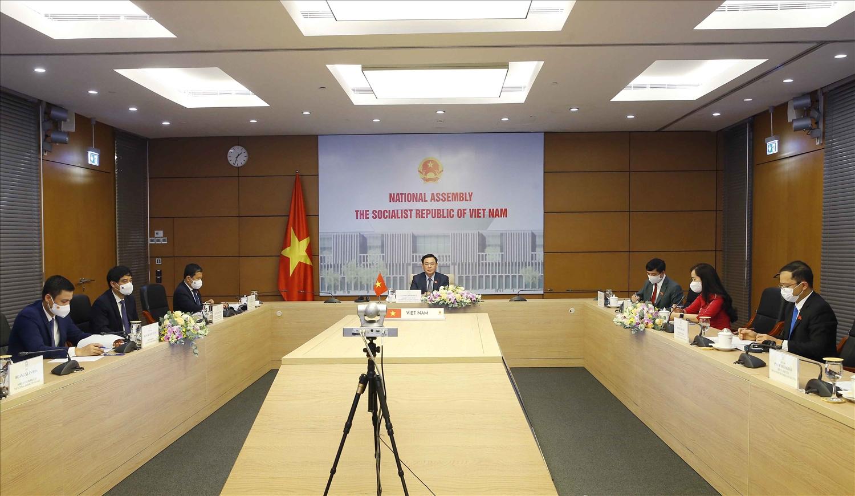 Toàn cảnh đầu cầu Việt Nam tại hội đàm - Ảnh: VGP/Nguyễn Hoàng