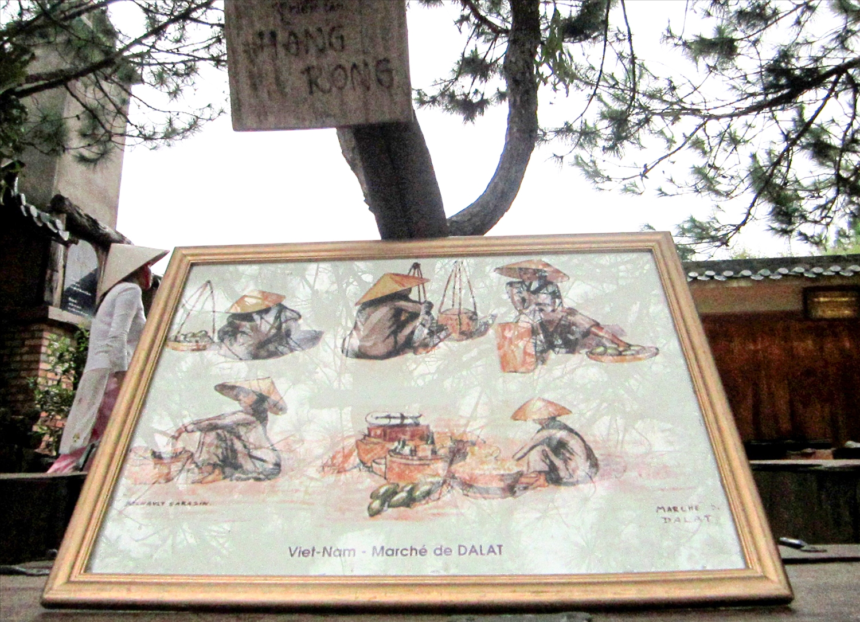 Những bức vẽ về người bán hàng rong Đà Lạt