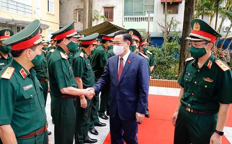 Chủ tịch Quốc hội Vương Đình Huệ thăm và làm việc tại Học viên Quân y, Bộ Quốc phòng