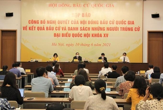 Quốc hội công bố danh sách 499 người trúng cử đại biểu Quốc hội khóa XV