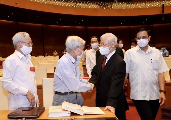 Tổng Bí thư Nguyễn Phú Trọng và các đại biểu dự Hội nghị