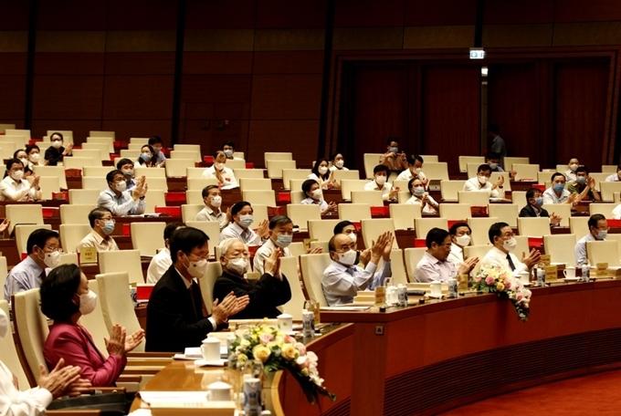 Các đồng chí lãnh đạo Đảng, Nhà nước tại Hội nghị.