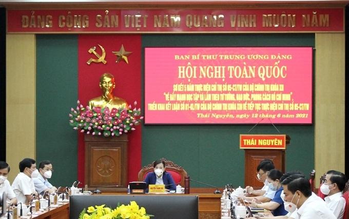 Hình ảnh tại điểm cầu Thái Nguyên.