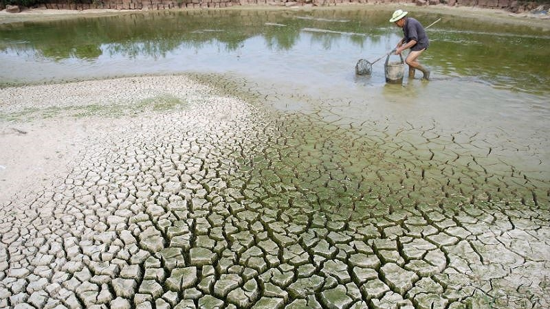 Biến đổi khí hậu ảnh hưởng trực tiếp đến cuộc sống nhiều người dân Việt Nam. Ảnh: Internet