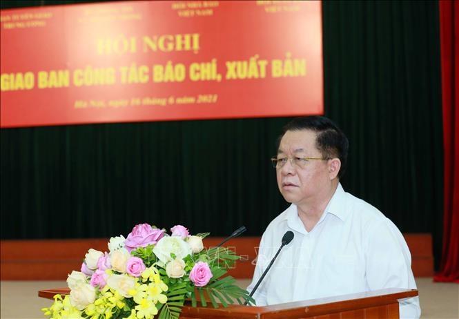 Trưởng Ban Tuyên giáo Trung ương Nguyễn Trọng Nghĩa phát biểu kết luận hội nghị. Ảnh: Phương Hoa/TTXVN