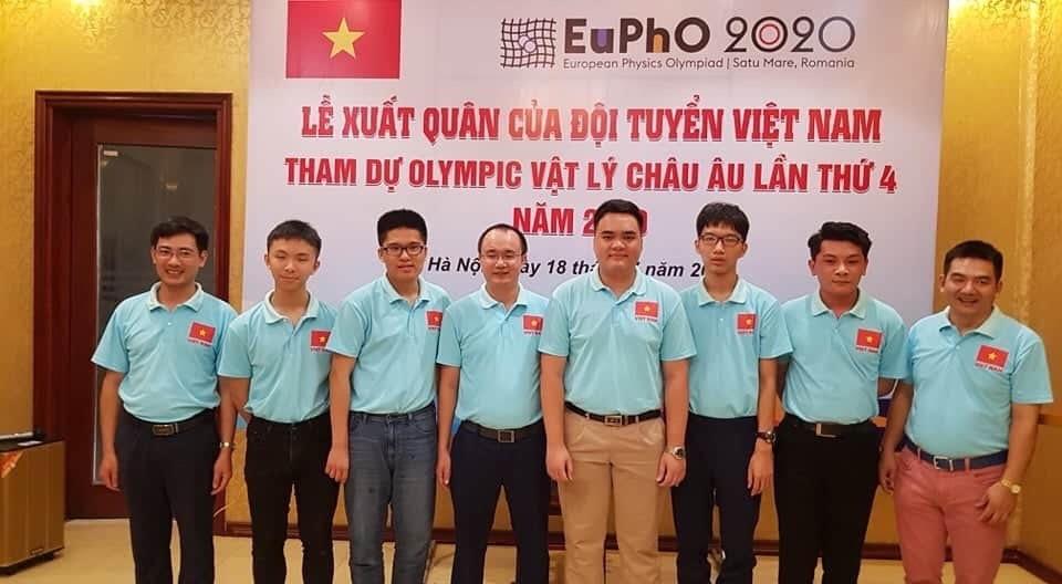 Đội tuyển Việt Nam tham dự kì thi Olympic Vật lý châu Âu năm 2020