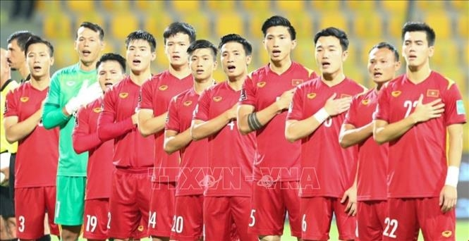 Việt Nam lập kỳ tích lần đầu tiên vào vòng loại cuối cùng World Cup 2022 khu vực Châu Á. Ảnh: Hoàng Linh/Pv TTXVN tại UAE