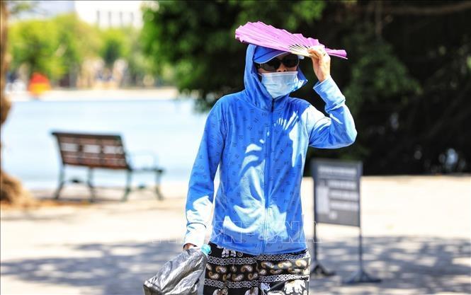 Dự báo chỉ số tia cực tím đạt mức cực đại trong ngày 19/6 - Thủ đô Hà Nội ở mức 9.5. Ảnh minh họa: Thành Đạt/TTXVN
