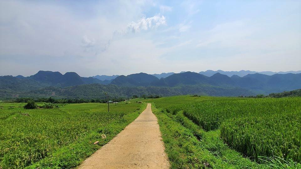 Con đường nhỏ xinh dẫn vào Pù Luông.