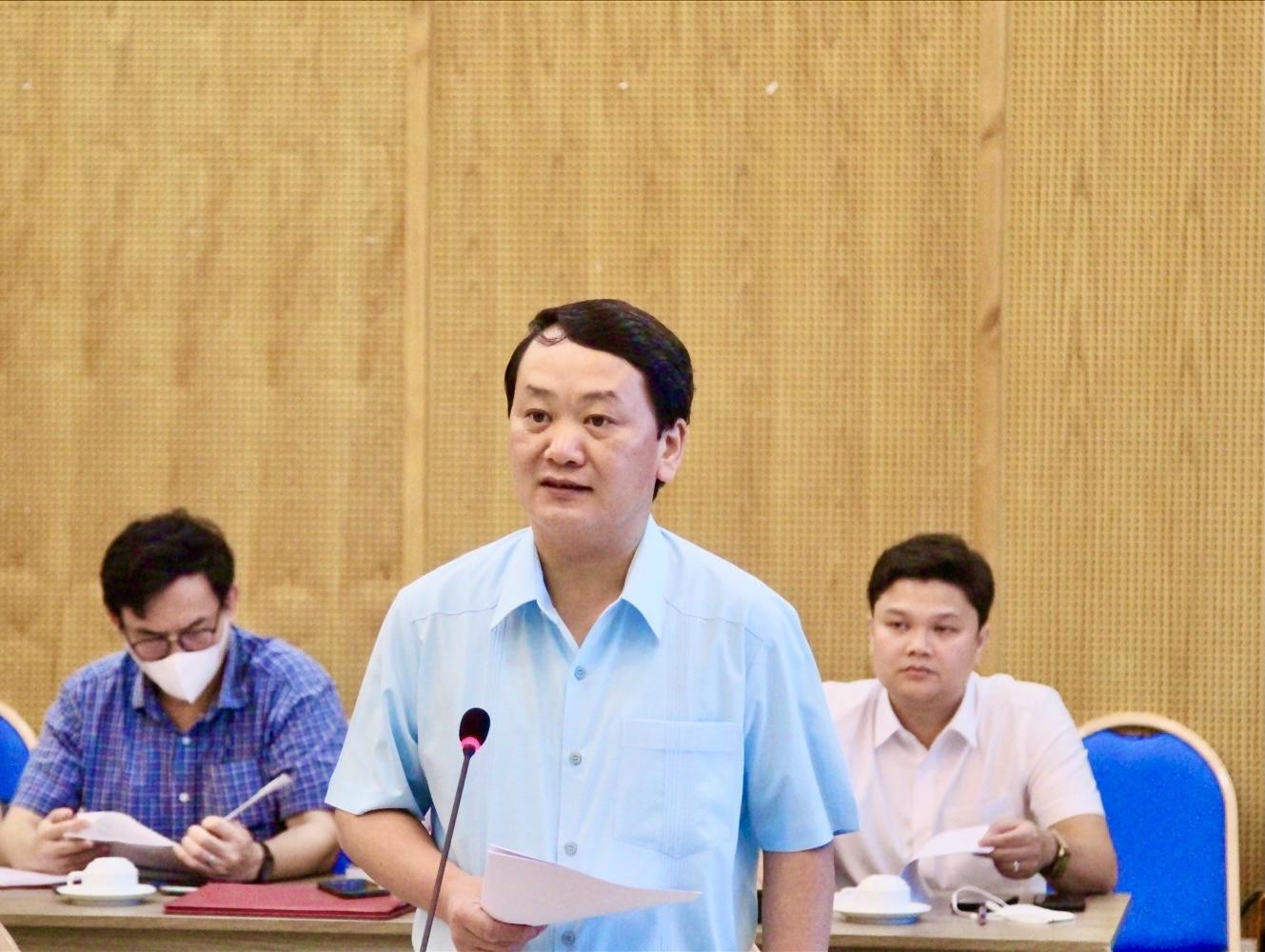 Bộ trưởng, Chủ nhiệm UBDT Hầu A Lềnh phát biểu tại cuộc họp