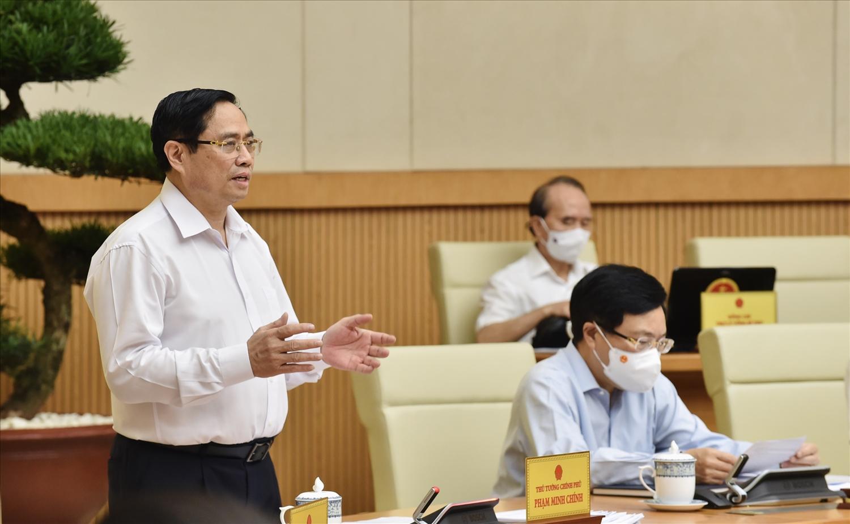 Thủ tướng Phạm Minh Chính chủ trì phiên họp Chính phủ thường kỳ tháng 6. Ảnh: VGP/Nhật Bắc