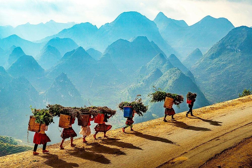 Hà Giang có quần thể núi non hùng vĩ với độ cao trên 2.000 m so với mực nước biển