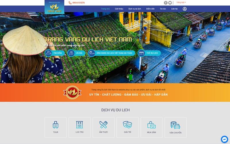 Trang chủ Trang vàng Du lịch Việt Nam. (Ảnh: TCDL)