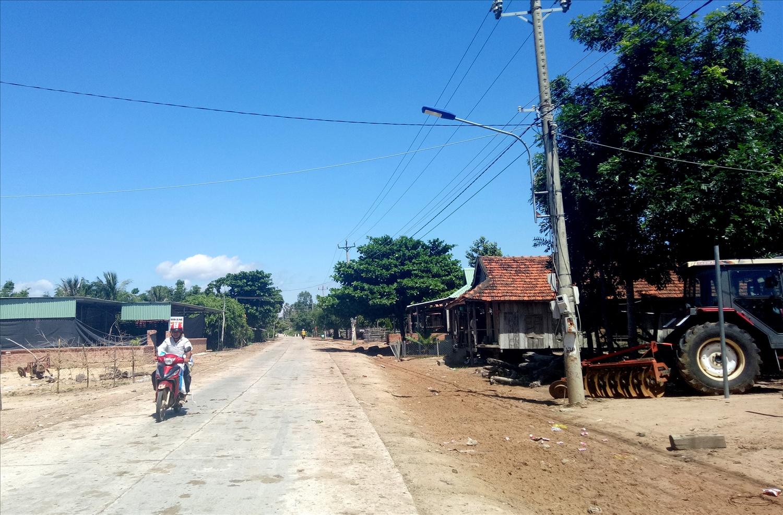 Một góc buôn Bưng xã Ea Lâm (Ảnh: H.H Thế)