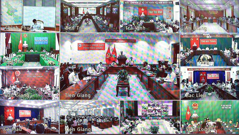 Cuộc họp diễn ra dưới hình thức trực tuyến - Ảnh: VGP/Đình Nam