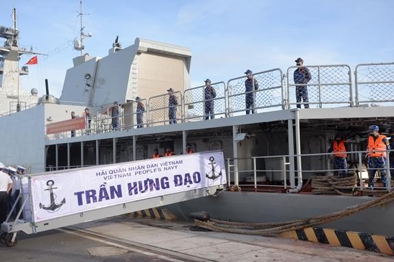 Biên đội tàu 015, 016 lên đường tham gia thi đấu Army Games 2021 tại LB Nga 1