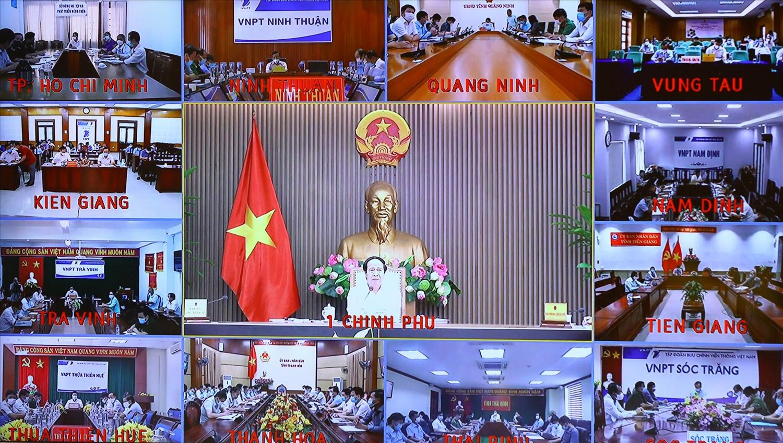 Cuộc họp được tổ chức trực tuyến với sự tham dự của 28 tỉnh, thành phố ven biển trên cả nước - Ảnh VGP/Đức Tuân