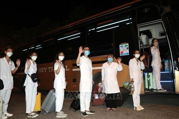 Sinh viên tình nguyện lên đường vào TP Hồ Chí Minh hỗ trợ chống dịch Covid-19/Ảnh minh họa/TTXVN