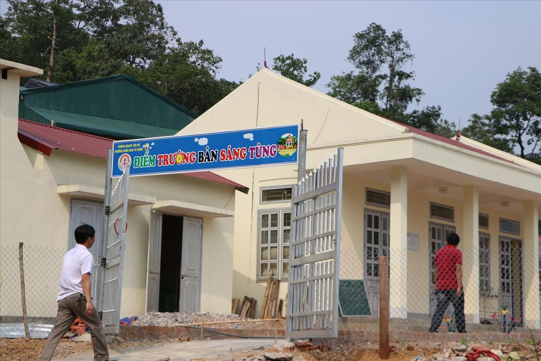 Điểm trường Mầm non Sáng Tùng được xây dựng phục vụ việc dạy và học